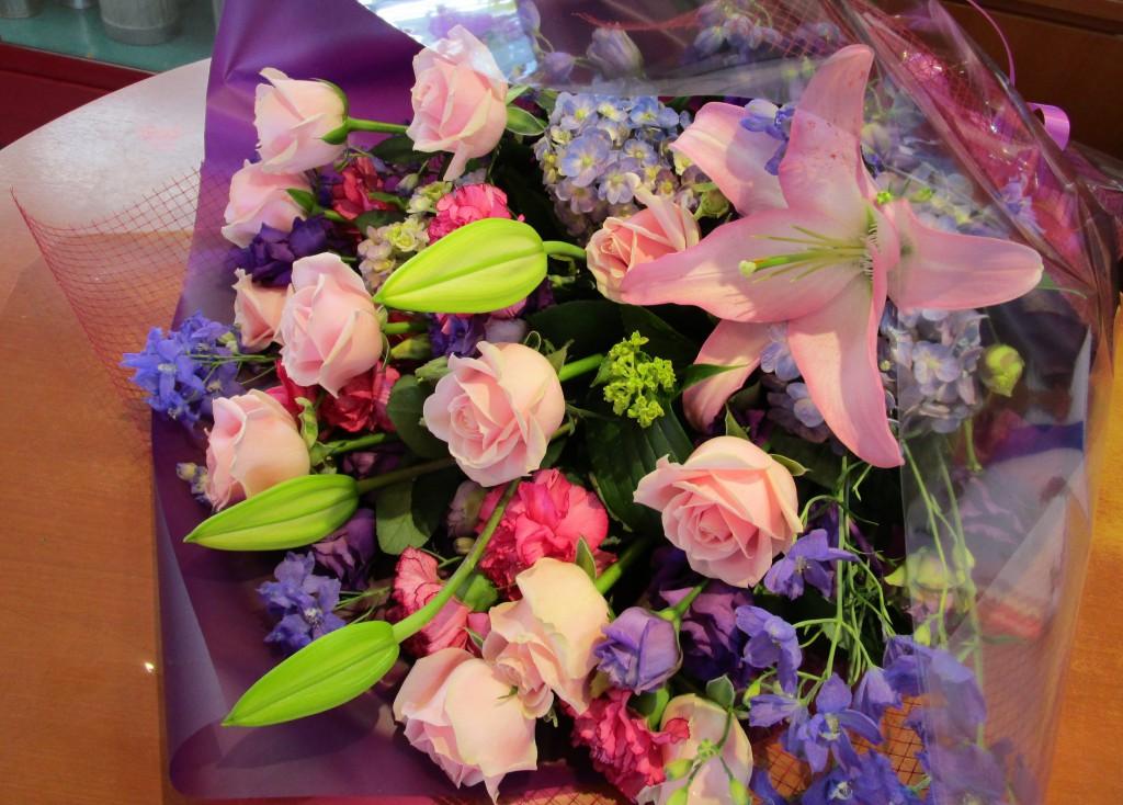 バレエに発表会に花束を